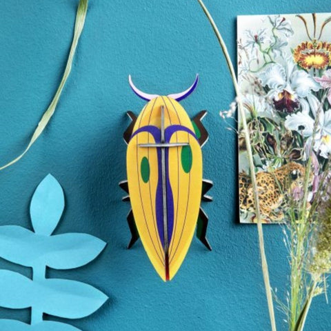 Studio Roof 3D Model Wall Decor - Small Click Beetle