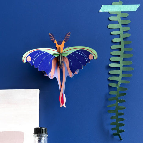 Studio Roof 3D Model Wall Decor - Blue Comet Butterfly