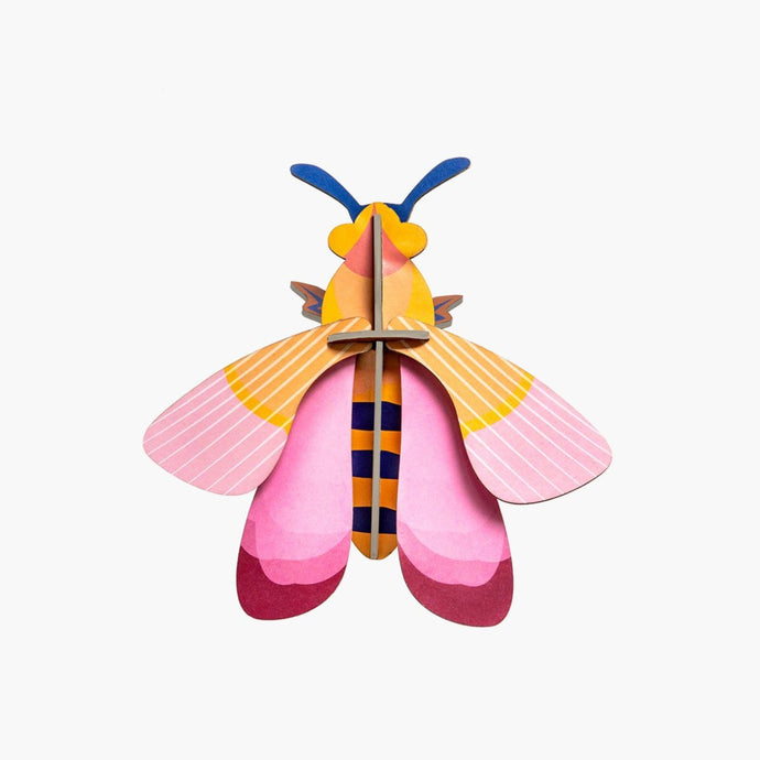 Studio Roof 3D Model Wall Decor - Pink Bee