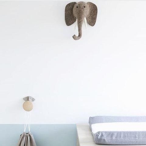 Fiona Walker Elephant Felt Animal Head - Mini