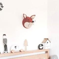 Fiona Walker Fox Felt Animal Wall Head - Mini | Soren's House
