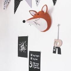 Fiona Walker Fox Felt Animal Wall Head - Large | Soren's House