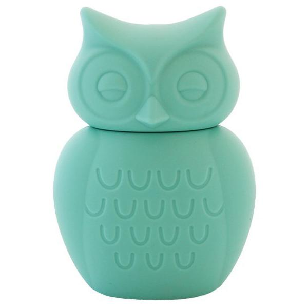 Owl Silicone Money Box by KG Design - Aqua