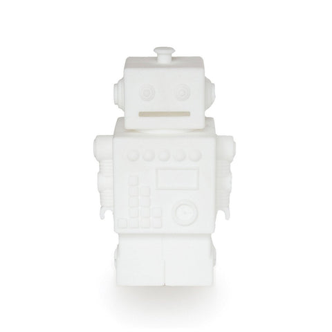 Robot Silicone Money Box by KG Design - White