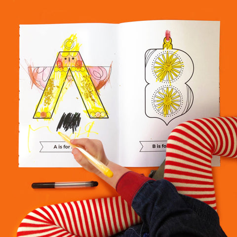 The Christmas Animal Alphabet Colouring Book by The Jam Tart