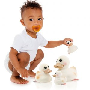 Hevea Kawan Natural Rubber Duck - White | Soren's House