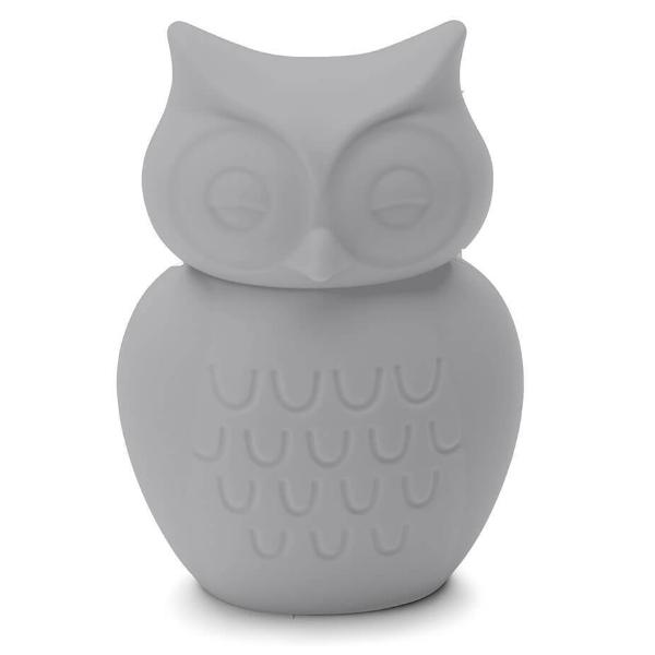Owl Silicone Money Box by KG Design - Light Grey