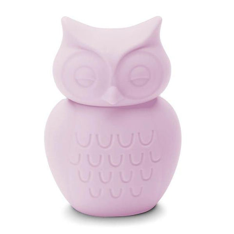Owl Silicone Money Box by KG Design - Pale Pink