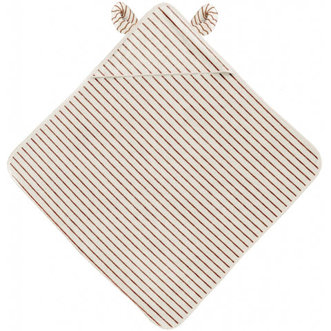Konges Slojd Organic Terry Towel - Striped Biscuit