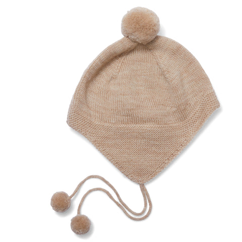 Konges Slojd Tomami Knit Hat - Creamy White