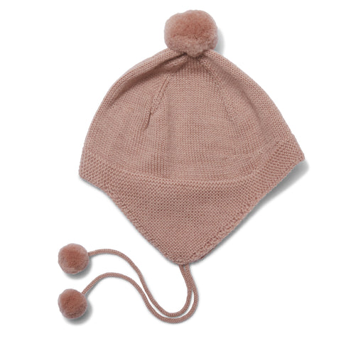 Konges Slojd Tomami Knit Hat - Rose Blush