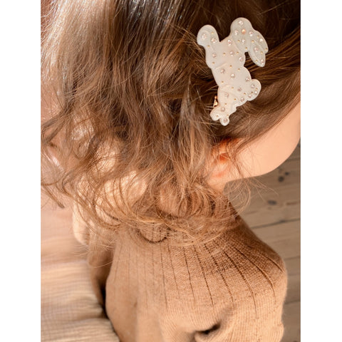 Konges Slojd Hair Clips - 3 Pack - Shell/Rabbit/Lemon
