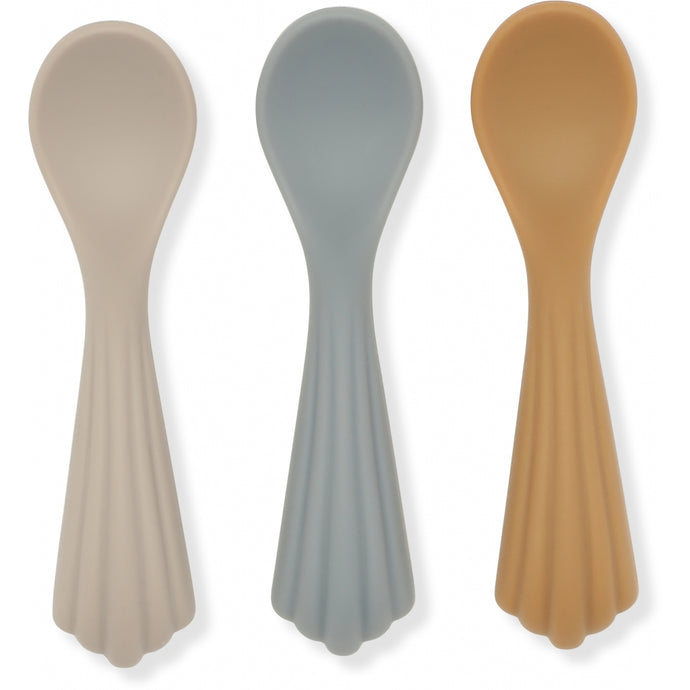 Konges Slojd Silicone Spoons - 3 Pack - Warm Grey
