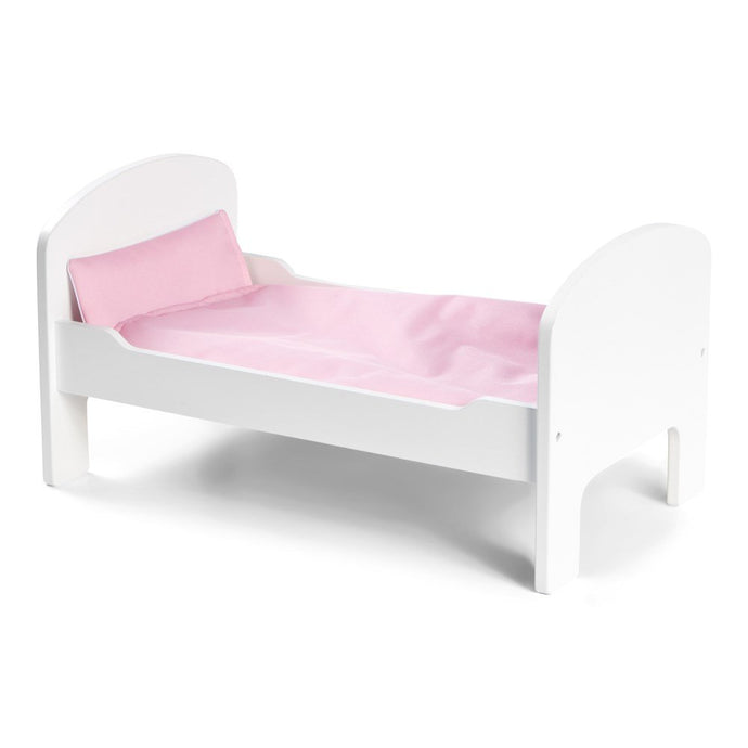 STOY Wooden Doll Bed - White