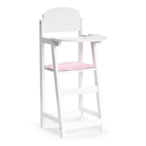 STOY Wooden Doll High Chair - White