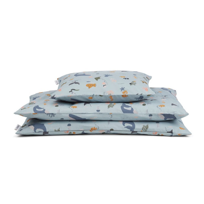 Liewood Carl Children's Bedding Set (140 x 200cm) - Sea Creature Mix