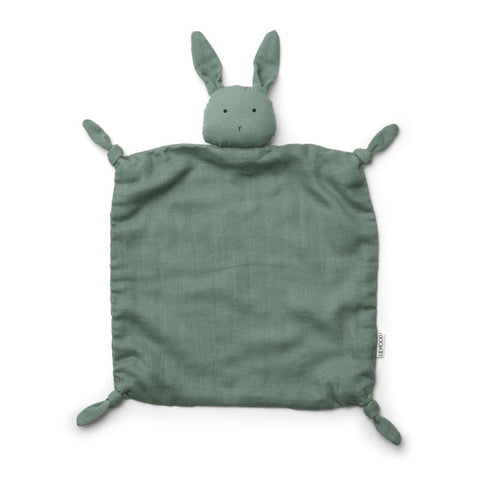 Liewood Agnete Organic Cuddle Cloth - Rabbit Peppermint