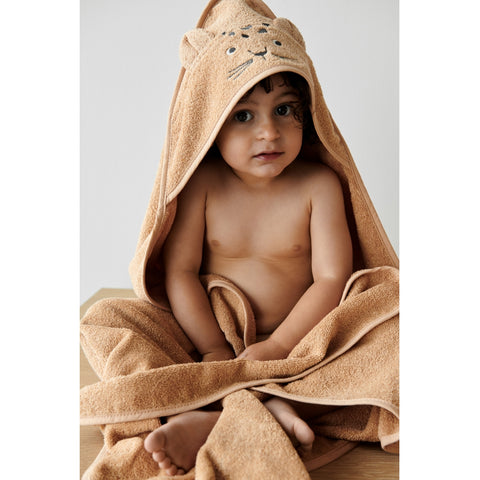 Liewood Organic Augusta Hooded Towel - Leopard Apricot