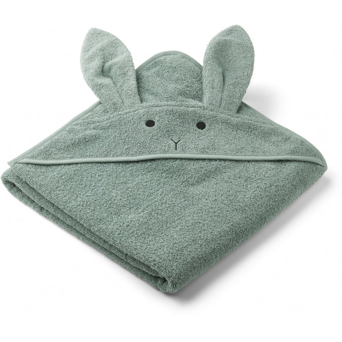 Liewood Organic Augusta Hooded Towel - Rabbit Peppermint