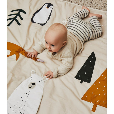 Liewood Organic Glenn Baby Activity Blanket & Play Mat - Arctic Mix