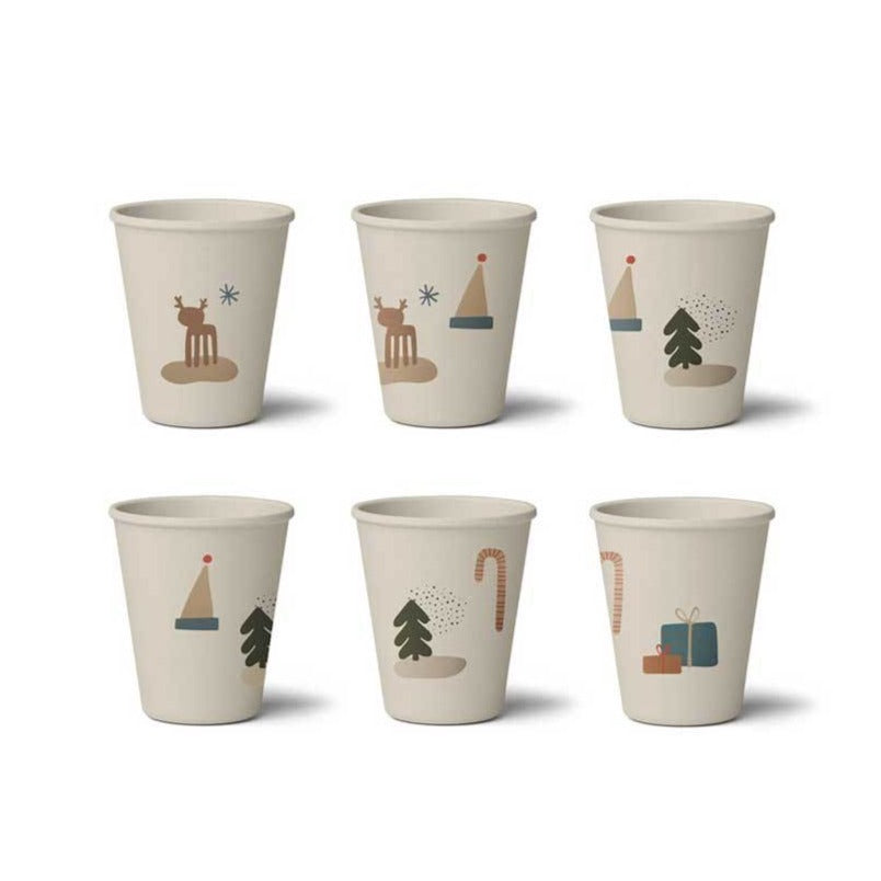 Liewood Gertrud Bamboo Cups - 6 Pack - Holiday Mix