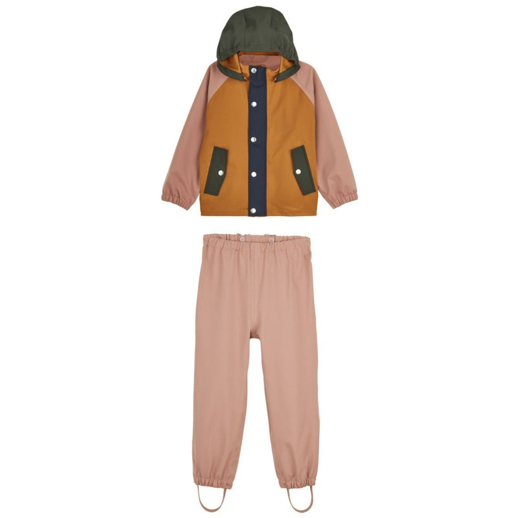 Liewood Parker Children's Rainwear Set - Dark Rose Mix