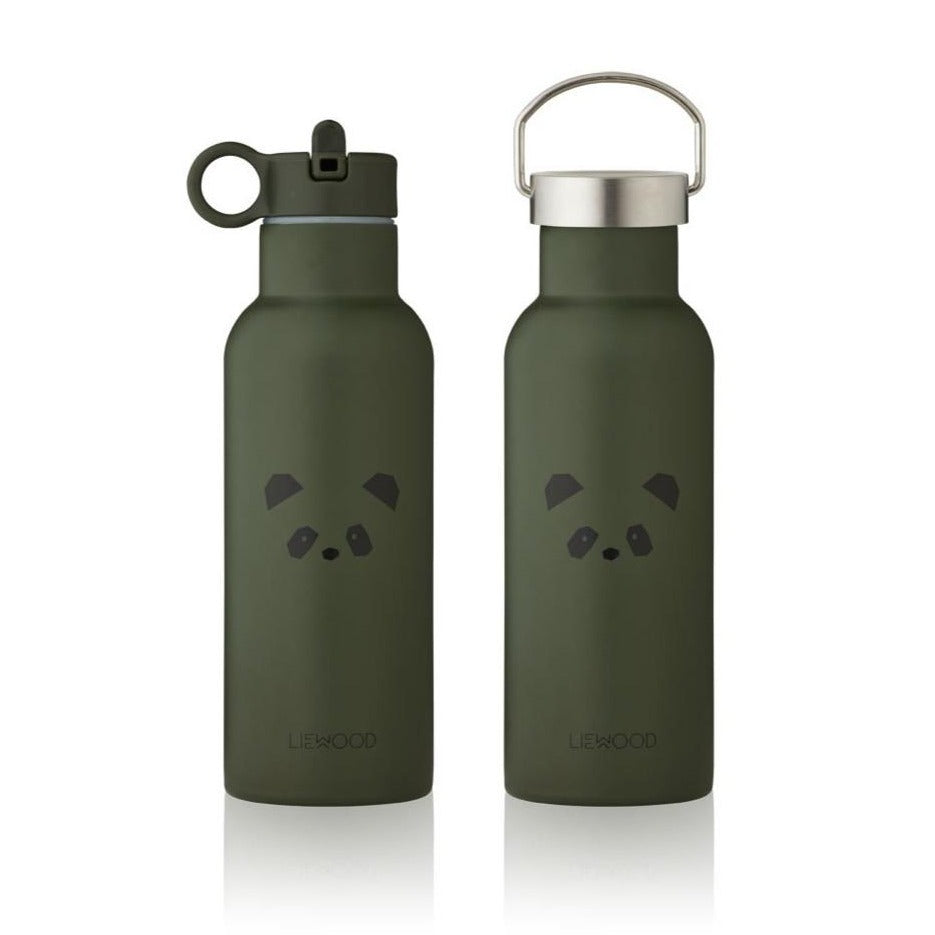 Liewood Neo 500ml Water Bottle - Panda Hunter Green
