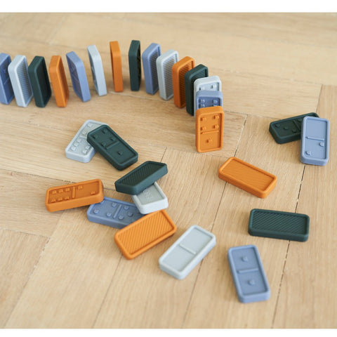 Liewood Dodo Silicone Domino Set - Blue Multi Mix