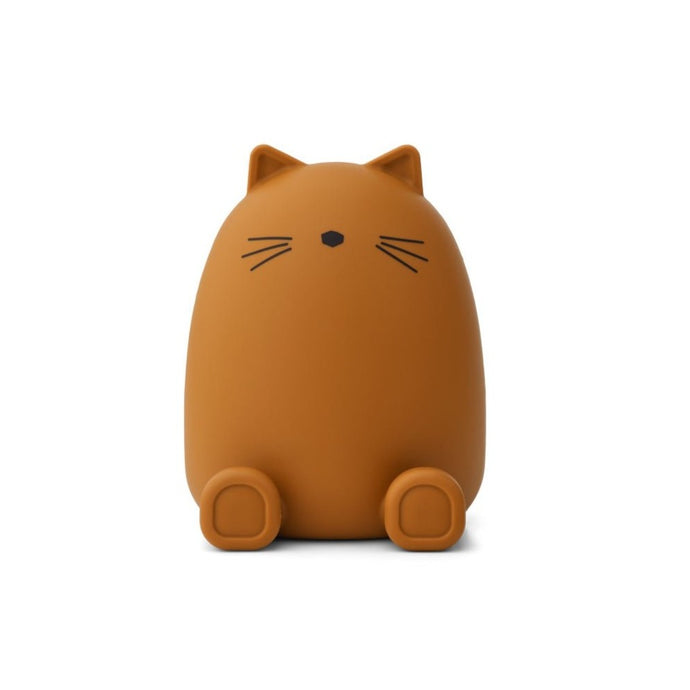Liewood Palma Silicone Money Bank - Cat Mustard