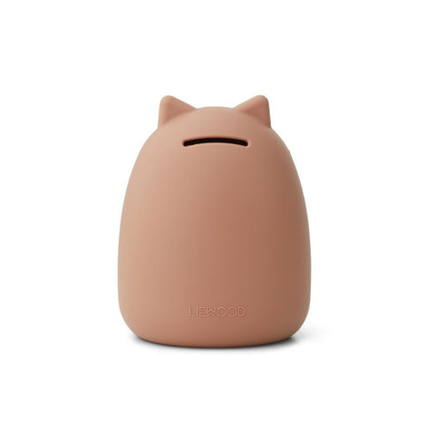 Liewood Palma Silicone Money Bank - Cat Dark Rose
