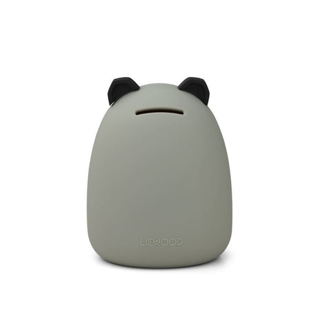 Liewood Palma Silicone Money Bank - Panda Dove Blue
