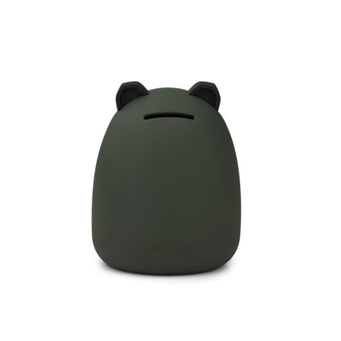 Liewood Palma Silicone Money Bank - Panda Hunter Green