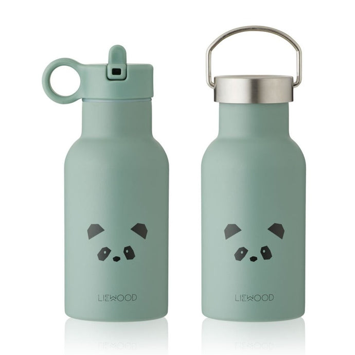 Liewood Anker Steel Water Bottle - Panda Peppermint