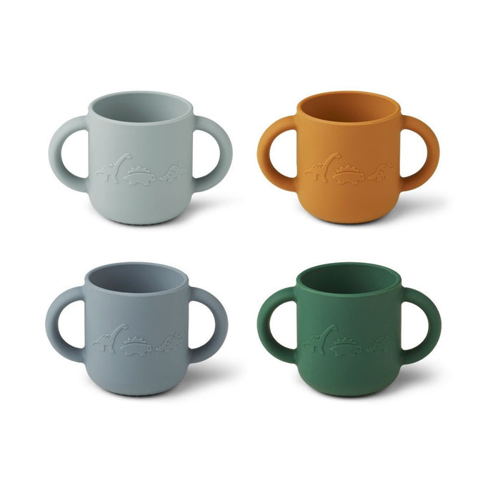 Liewood Gene Cups - 4 Pack - Dino Blue Multi Mix