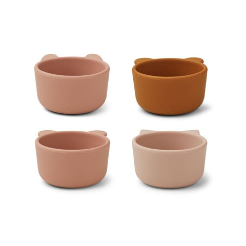 Liewood Malene Silicone Bowls - 4-Pack - Rose Multi Mix
