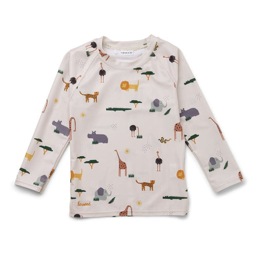 Liewood Noah Swim Tee - Safari Sandy Mix