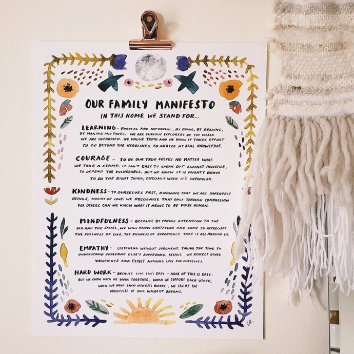 Family Manifesto Print by Little Truths Studio | Soren's House