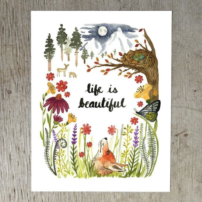 Life is Beautiful Art Print by Little Truths Studio | Soren's House
