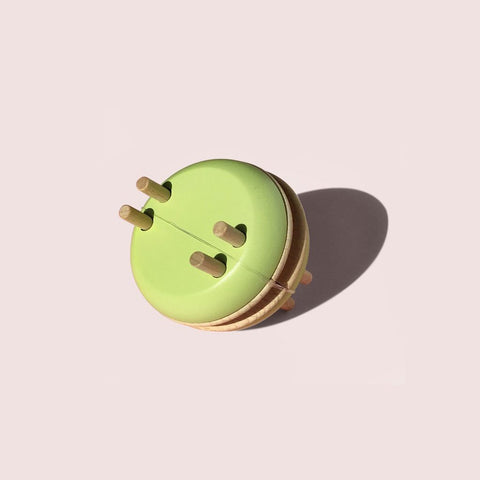 Wooden Pistachio Macaron Pom Pom Maker by Pom Maker | Soren's House