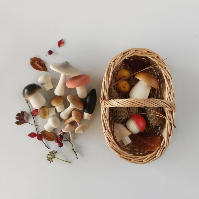 Forest Mushrooms Basket by Moon Picnic x Erzi