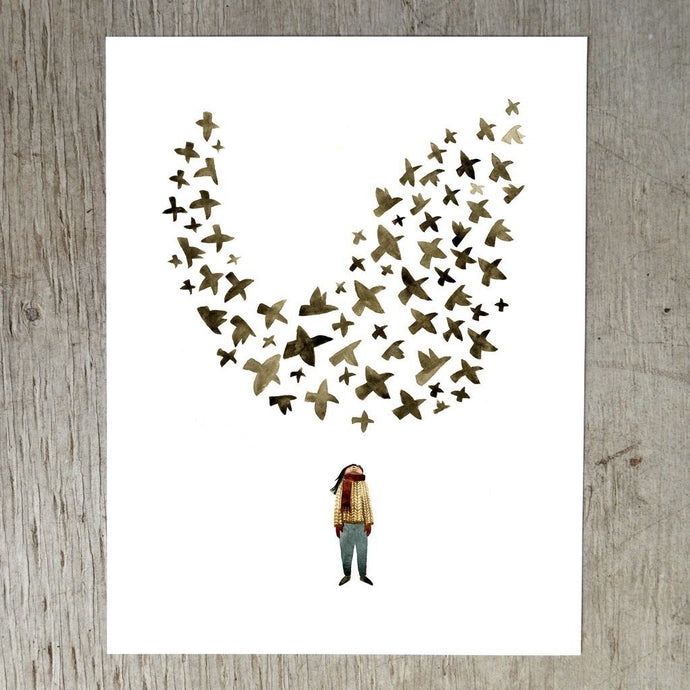 Starling Murmuration Art Print by Little Truths Studio