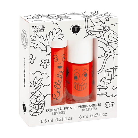 Nailmatic Natural Lip Gloss & Varnish Duo - Tropical