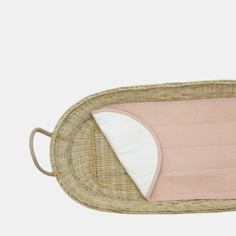Olli Ella Luxe Organic Cotton Changing Basket Liner - Rose