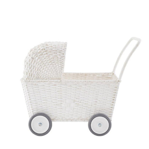 Olli Ella Basket Strolley - White