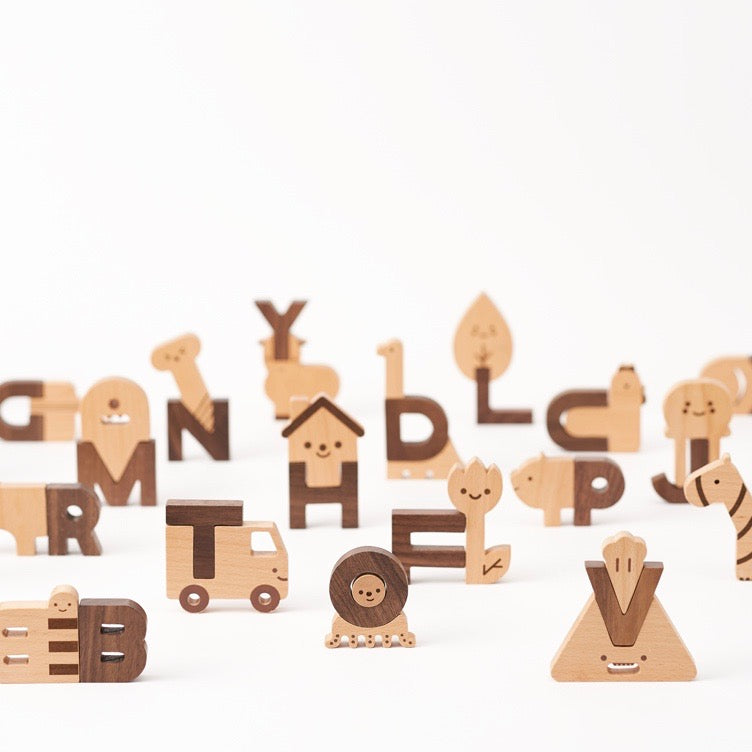 Wooden Alphabet Play Blocks by Oioiooi | Oioiooi Design