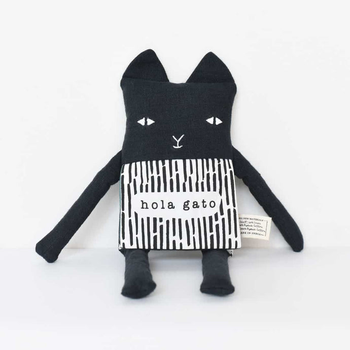 Wee Gallery Organic Flippy Friend - Cat (Spanish) (FREE DELIVERY)
