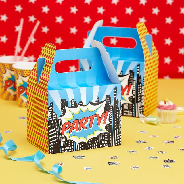Party Boxes - Pop Art Superhero Party By Ginger Ray