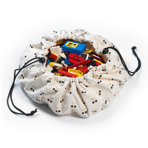 Mini Cherry Play & Go Toy Storage Bag & Playmat | Soren's House