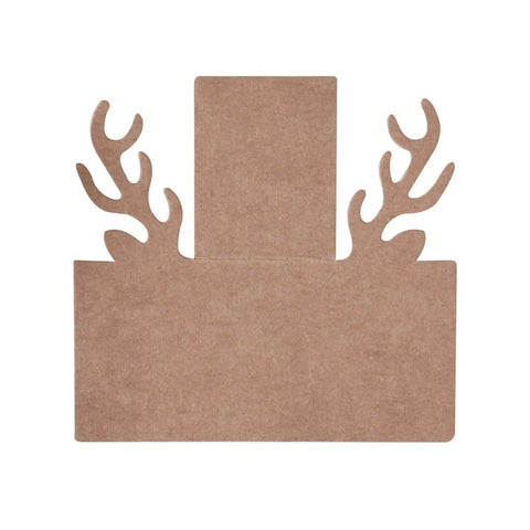Stag Head Shaped Place Cards - 10 Pack By Ginger Ray
