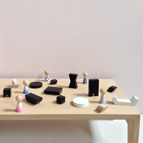 Mini Doll Furniture - Black - By Rock & Pebble